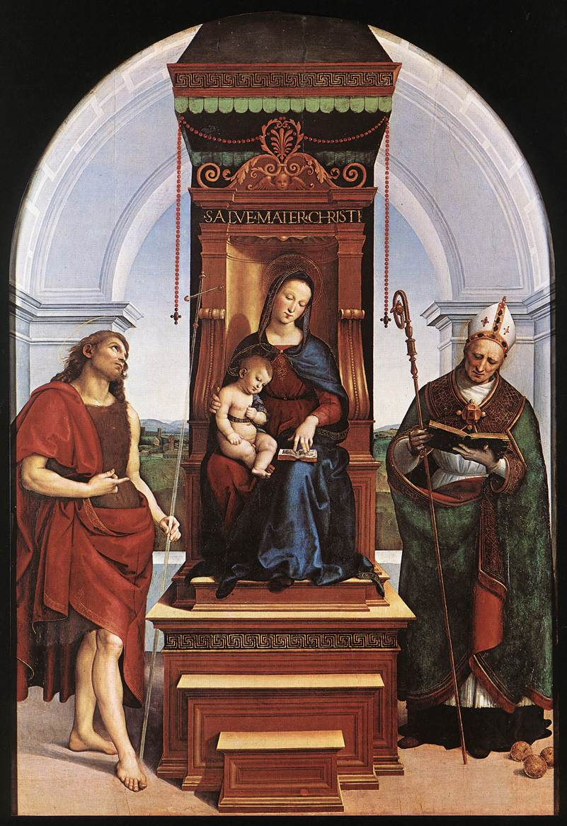 an analysis and a comparison of the art rafaels madonna and child enthroned with saints Your essay will include a brief formal analysis of each work madonna enthroned by cimabue and madonna and child enthroned with saints by giovanni butteri.