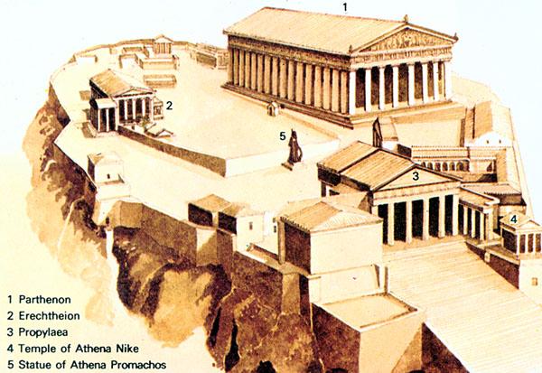 Athens Acropolis Reconstruction In 3D