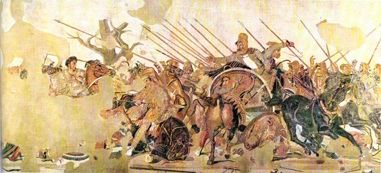 Greek art architecture fourth century painting and for Battle of issus painting