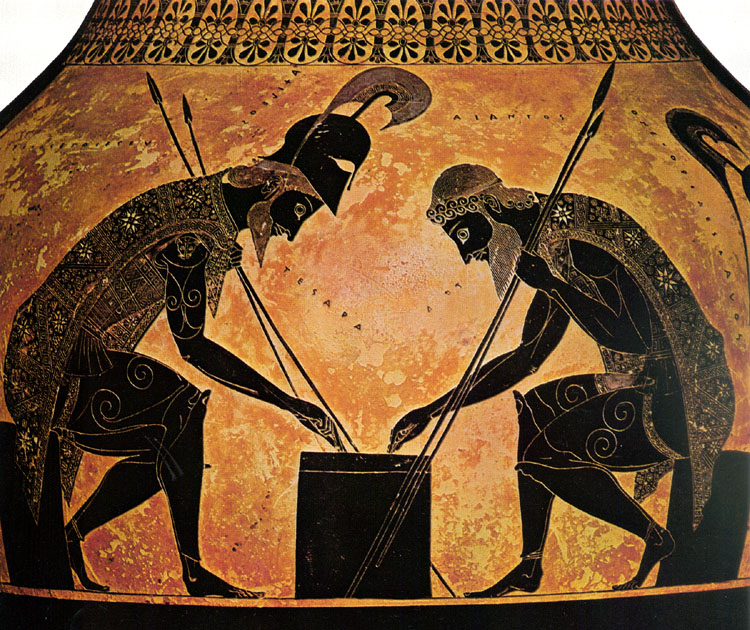 Exekias, Amphora with Ajax and Achilles Playing a Game ...