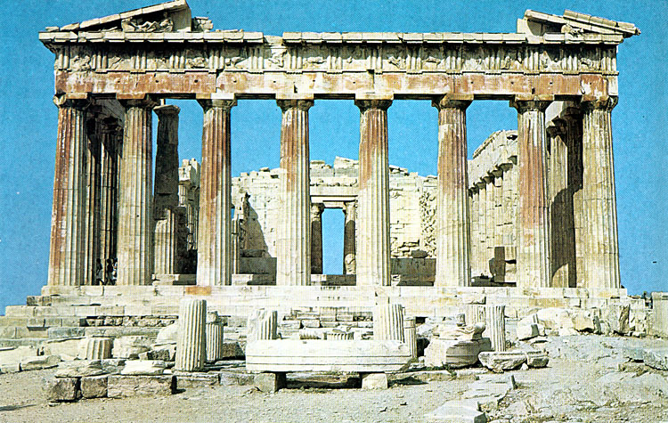 the Acropolis of Athens, the Parthenon, the Propylaea, the ...